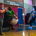 NYC subway buskers, Too Many Zooz, dazzled the crowd with their brass house music during the Opening Fest Celebration. Photo by Dylan Singleton.