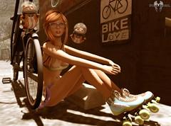 La bici o el patins?