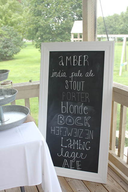 brew bash chalkboard menu