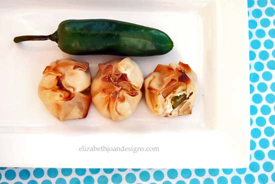 Baked Jalapeno Cream Cheese Wontons Recipe by Elizabeth Joan Designs