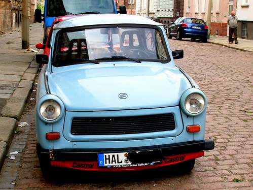 Trabant at Halle, East Germany