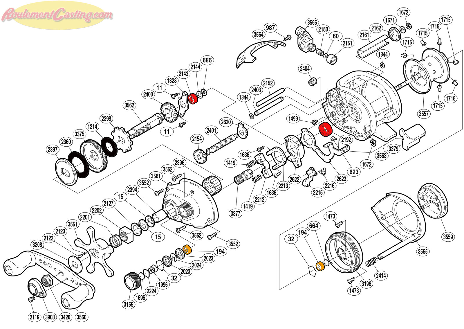 Schéma Shimano 06' Curado 101D