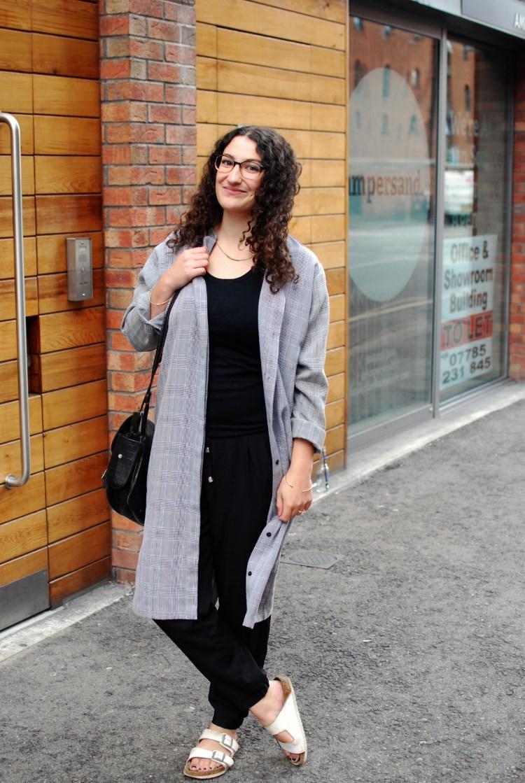 autumn style vintage duster coat