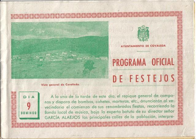 Programa Fiestas de San Lorenzo Año 1953