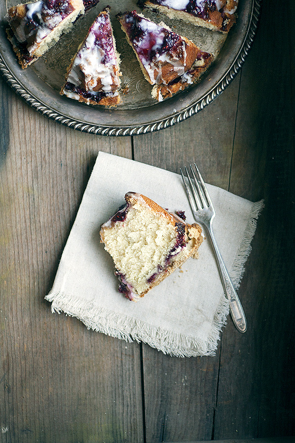 glazed raspberry coffee cake
