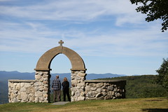 Stone Church memorial arch