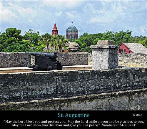 old city usa history church saint st stone skyline america de town us san cathedral florida fort district united historic spanish cannon fl states marcos augustine castillo hdr coquina unusualviewsperspectives