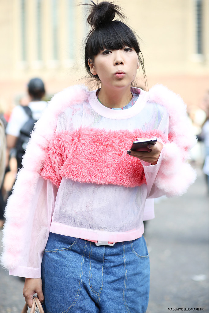 Susie Lau at London fashion week-2 copie