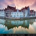 Belgium - Bruges - UNESCO World Heritage Site - Sunset over canal with reflection
