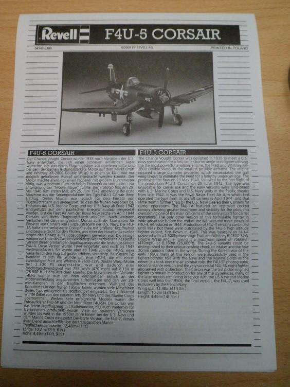 Vought F4U-5-Corsair [Revell 1/72] - Voilaaaa c'est finiiiiii (bis) !  15301903875_898faa5dc1_b