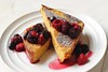 Cinnamon french toast with maple berry compote