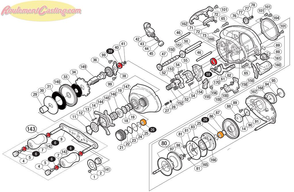 Schéma Shimano 08 Metanium MG DC Left
