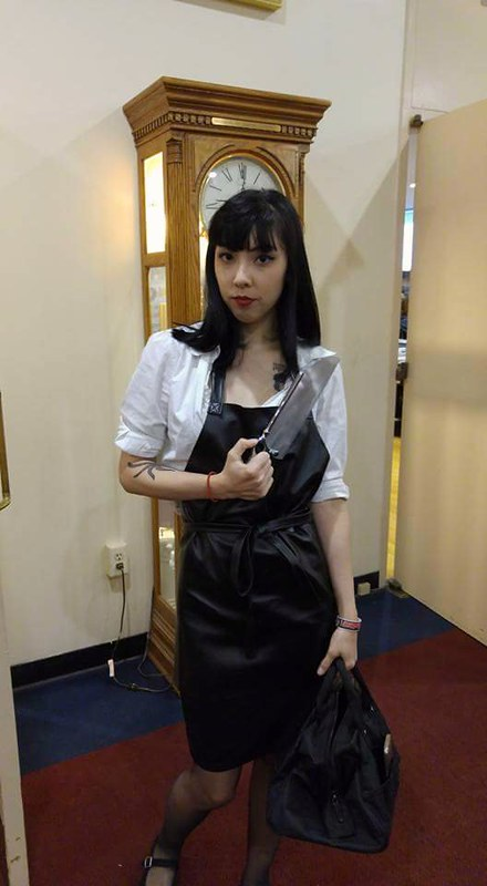 @bunnetron as American Mary!  #sinistercreaturecon #americanmary #horrorcosplay #sacramento #twistedtwins #americanmarycosplay #horrorcon