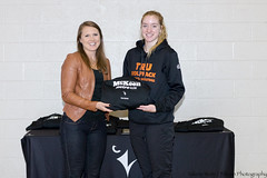 Chelsey Hoey (TRU All-star at Carleton Valerie Wutti)