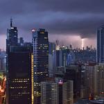 6. August 2016 - 18:19 - Lightning strikes Makati City, Philippines