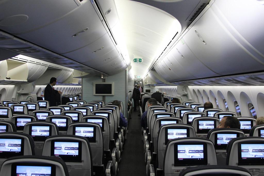 Air Canada Boeing 787-8 Dreamliner C-GHPX interior