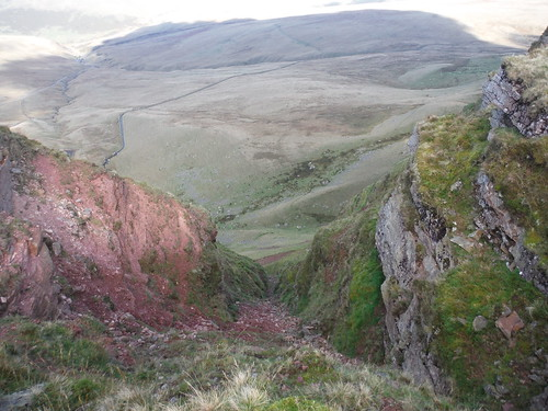 Precipitous Cleft in the Red Sandstone (Bannau Sir Gaer)