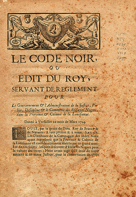 French Code noir [1728]