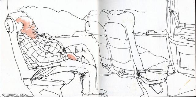 durmiendo placidamente en el autobus