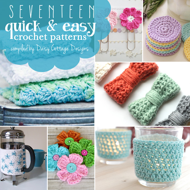 Quick And Easy Beginner Crochet Patterns : 17 Quick and Easy Free Crochet Patterns - Daisy Cottage ...