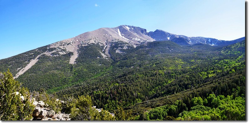 Wheeler Peak from Mother Overlook