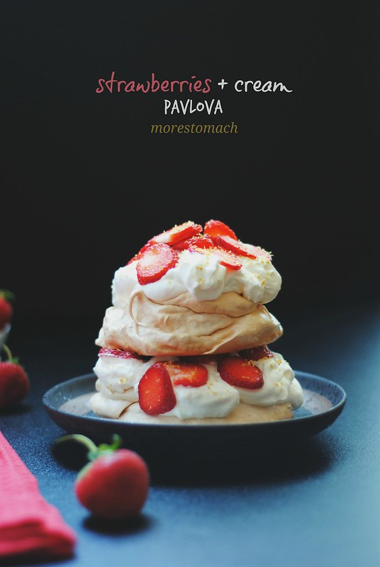 Strawberries + Cream Pavlova