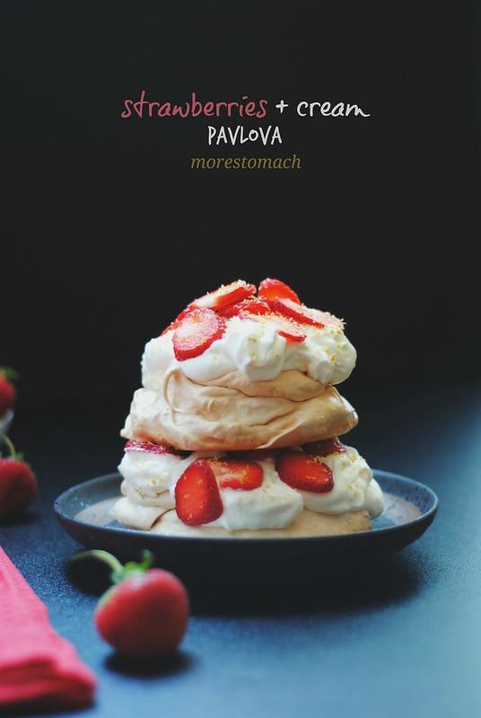 Strawberries + Cream Pavlova