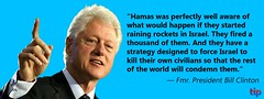 Former President Clinton Supports Israel\'s Right to Defend It\'s Citizens