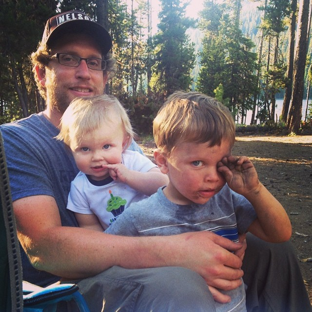 Camping with boys