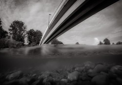 bridge water bayern deutschland under pebbles mangfall gopro hero3 bruckmühl