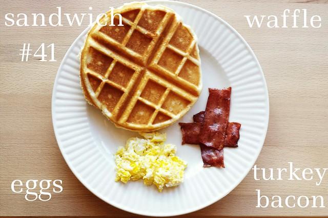 sandwich no. 41: waffle, bacon, + egg