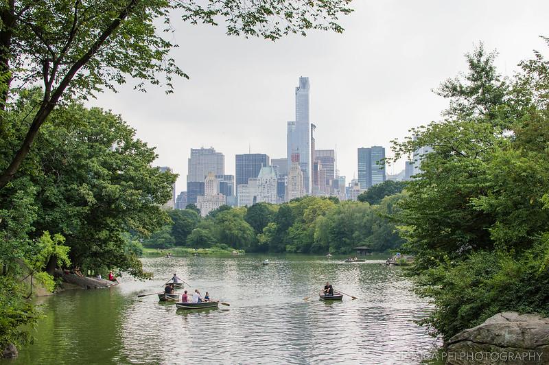 Central Park canoe