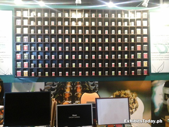 Shelve of Dilmah Tea Trade Show Booth Displays
