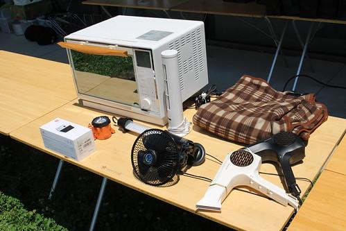 デモ用の電気製品