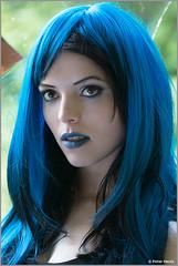 Lisanne with blue Hair