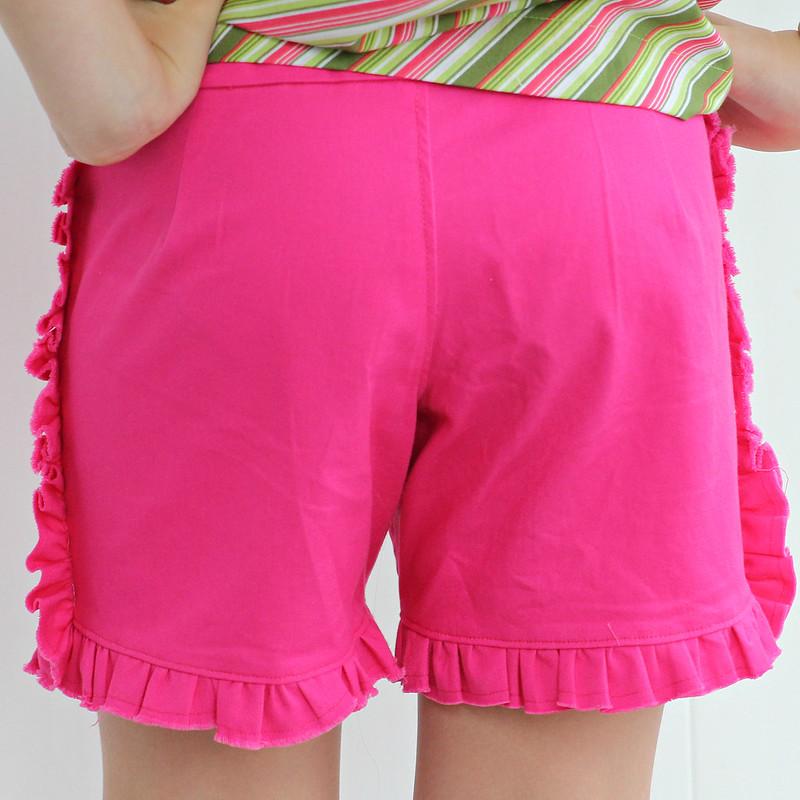 pink ruffle shorts4