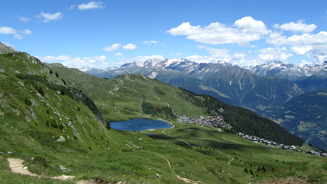 Bettmersee and Bettmeralp below