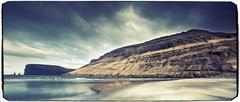 Coastline Tjørnuvík - Streymoy Faroe Islands - Vintage -