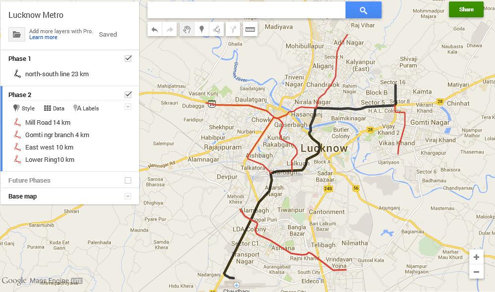 Lucknow Metro Map.Lucknow Metro Full Map