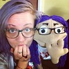 Pictured: @meryletrouble and her puppet doppelgänger, Stella.