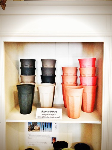 bio-degradable bamboo cups