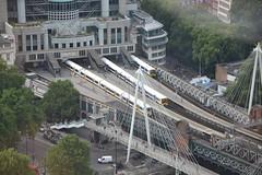 Trains at Charing Cross Station, London