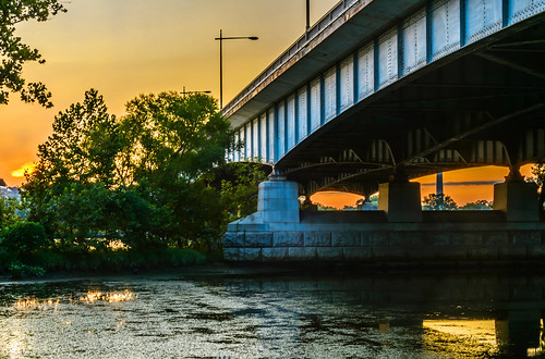 Roosevelt Bridge at Dawn HDR by Geoff Livingston