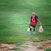 #soccer training camp night 2. Picking up trash to avoid running suicides. #smartman