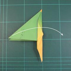 วิธีพับกระดาษเป็นรูปนกแก้ว (Origami Parrot) 025