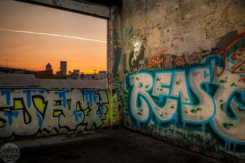 sunset building abandoned window electric oregon portland graffiti downtown side east vacant taylor deserted rexel