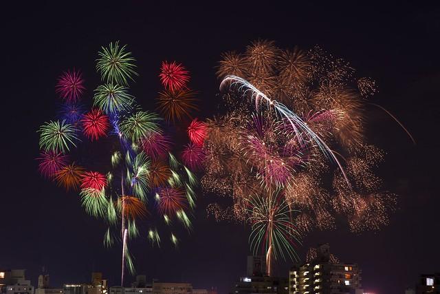 Summer Night Fireworks,Kagoshima 2014.08