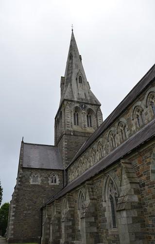 ireland windows roof irish tower clock church worship catholic exterior faith victorian eire christian spire nave wexford enniscorthy pugin enniscorthycathedral