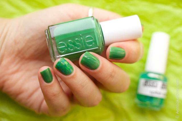 02 Essie Pretty Edgy + Lush Lacquer Splish Splash