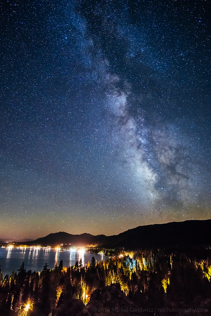 the milky way above tahoe flickr photo sharing